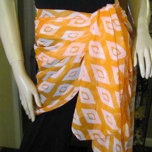 Orange & White Scarf by Summer